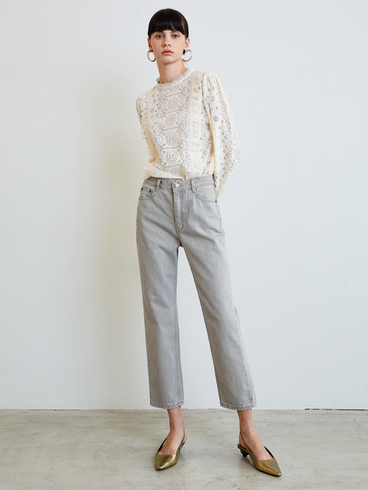 Eden Straight Pants_Grey