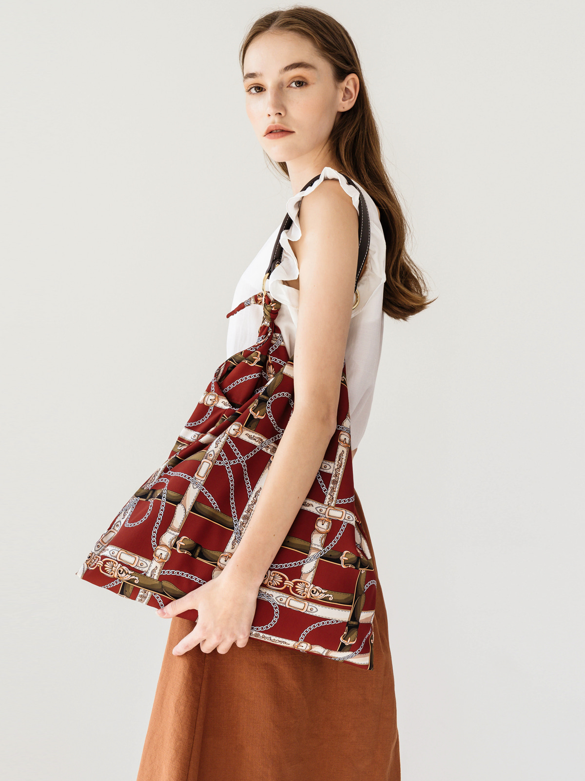 Jude Belt Scarf Bag_Red
