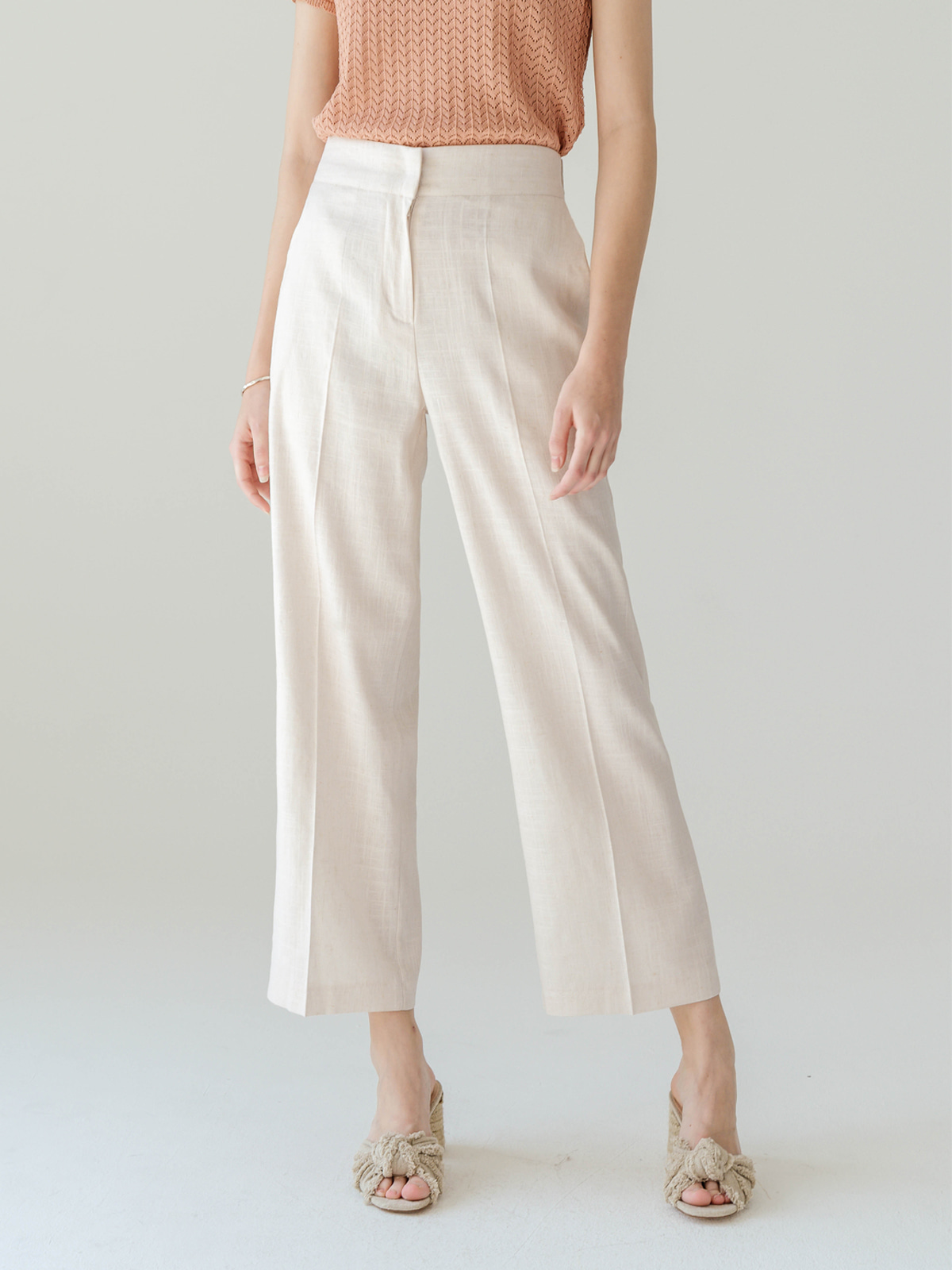 Rosie Linen Long Pants_ Ivory