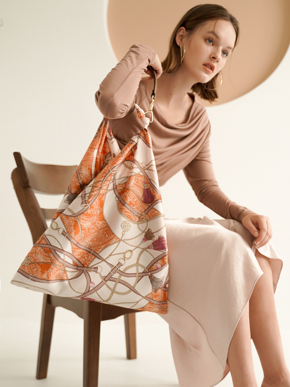 Jude Tassel Scarf Bag_Orange