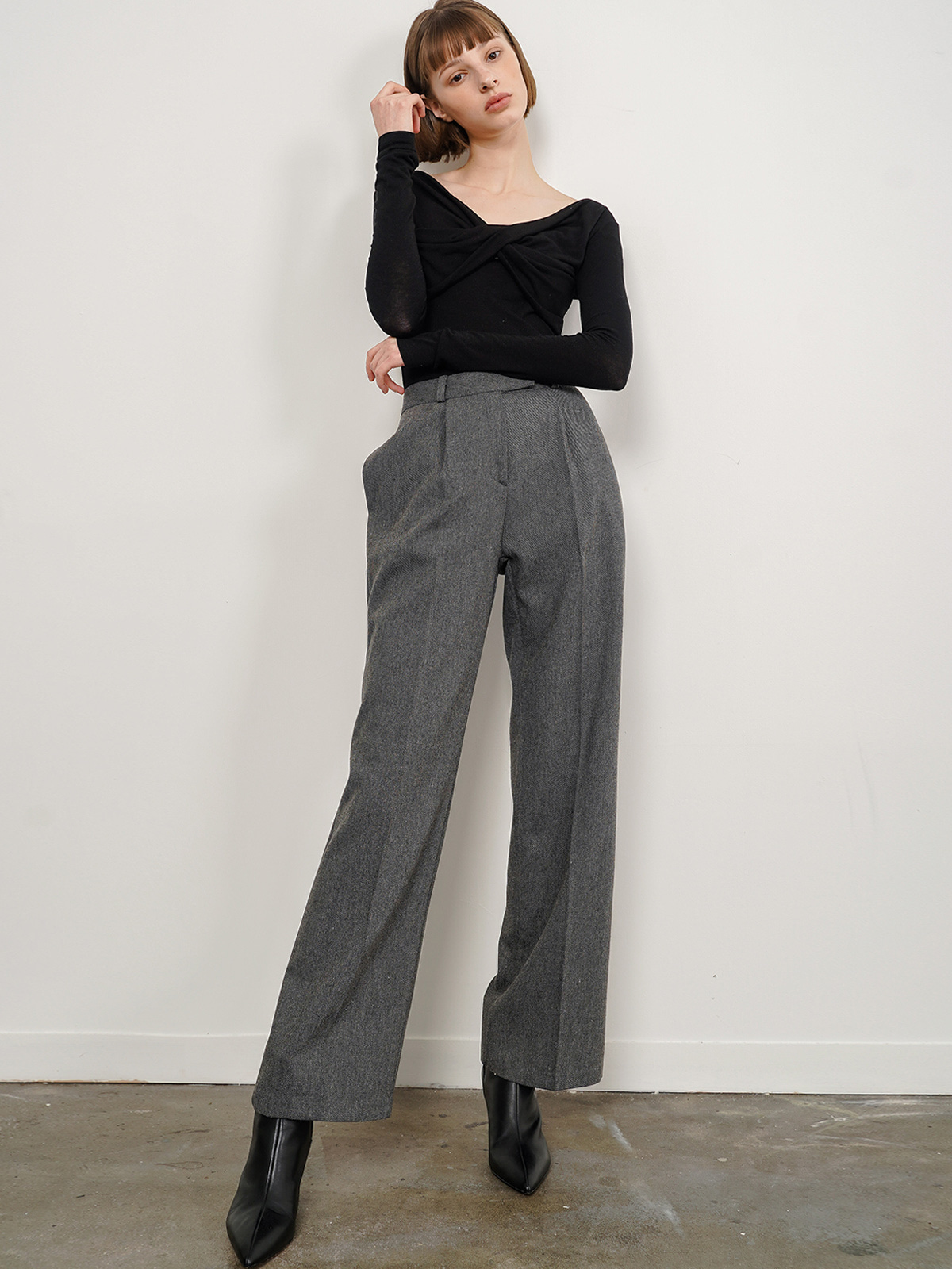 Alexia Wide Pants_Charcoal