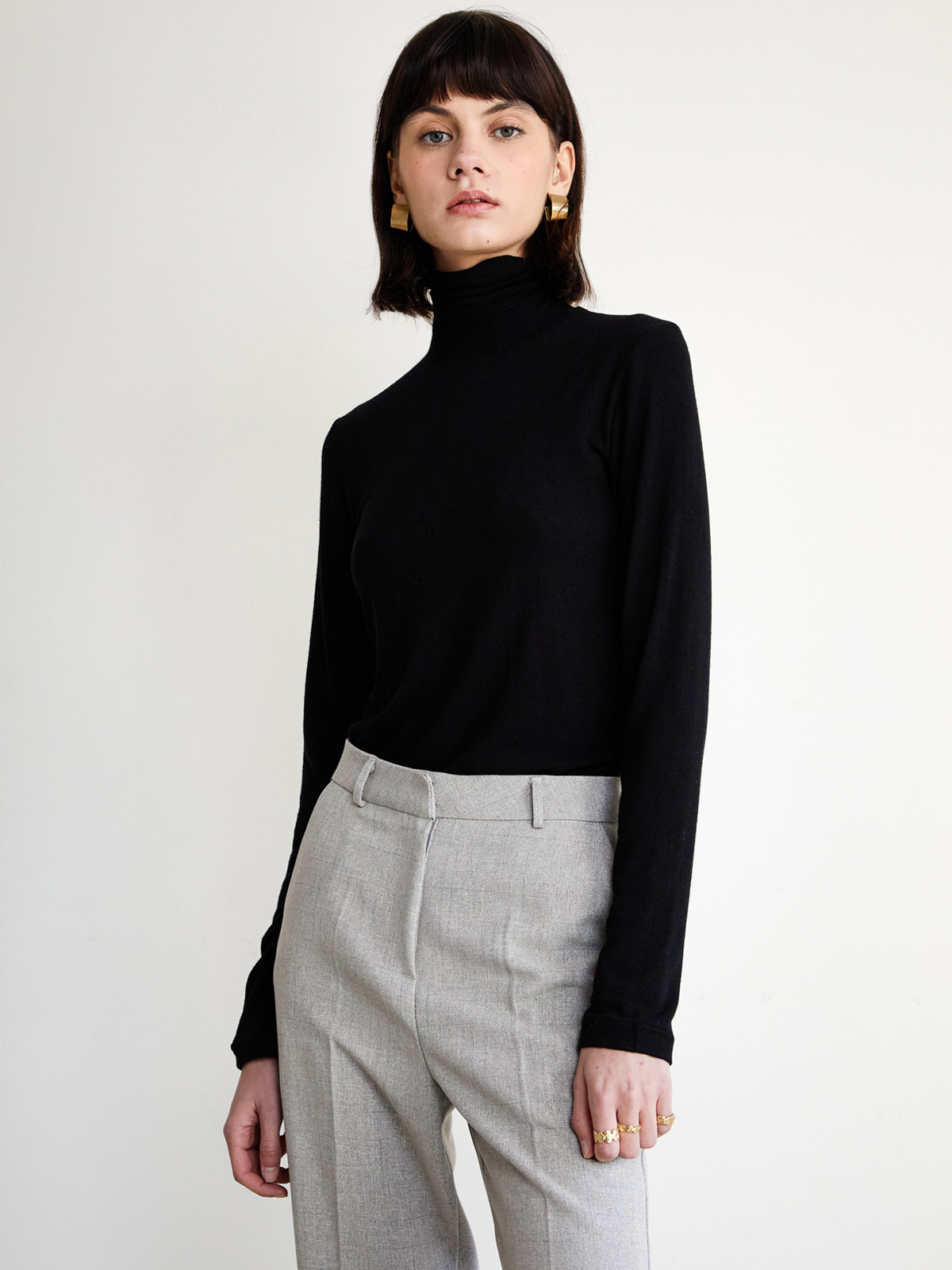 Janet Stretch Wool Turtleneck_Black