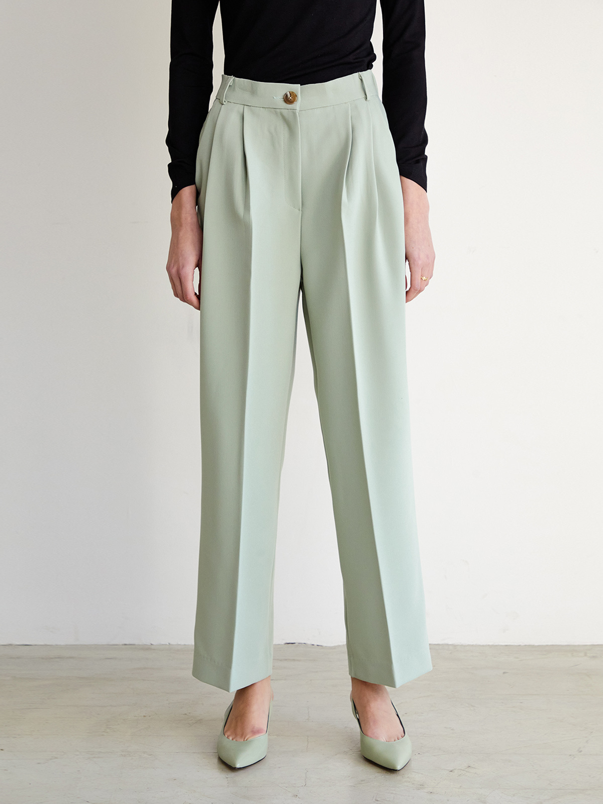 Bonnie Pintuck Pants_Mint