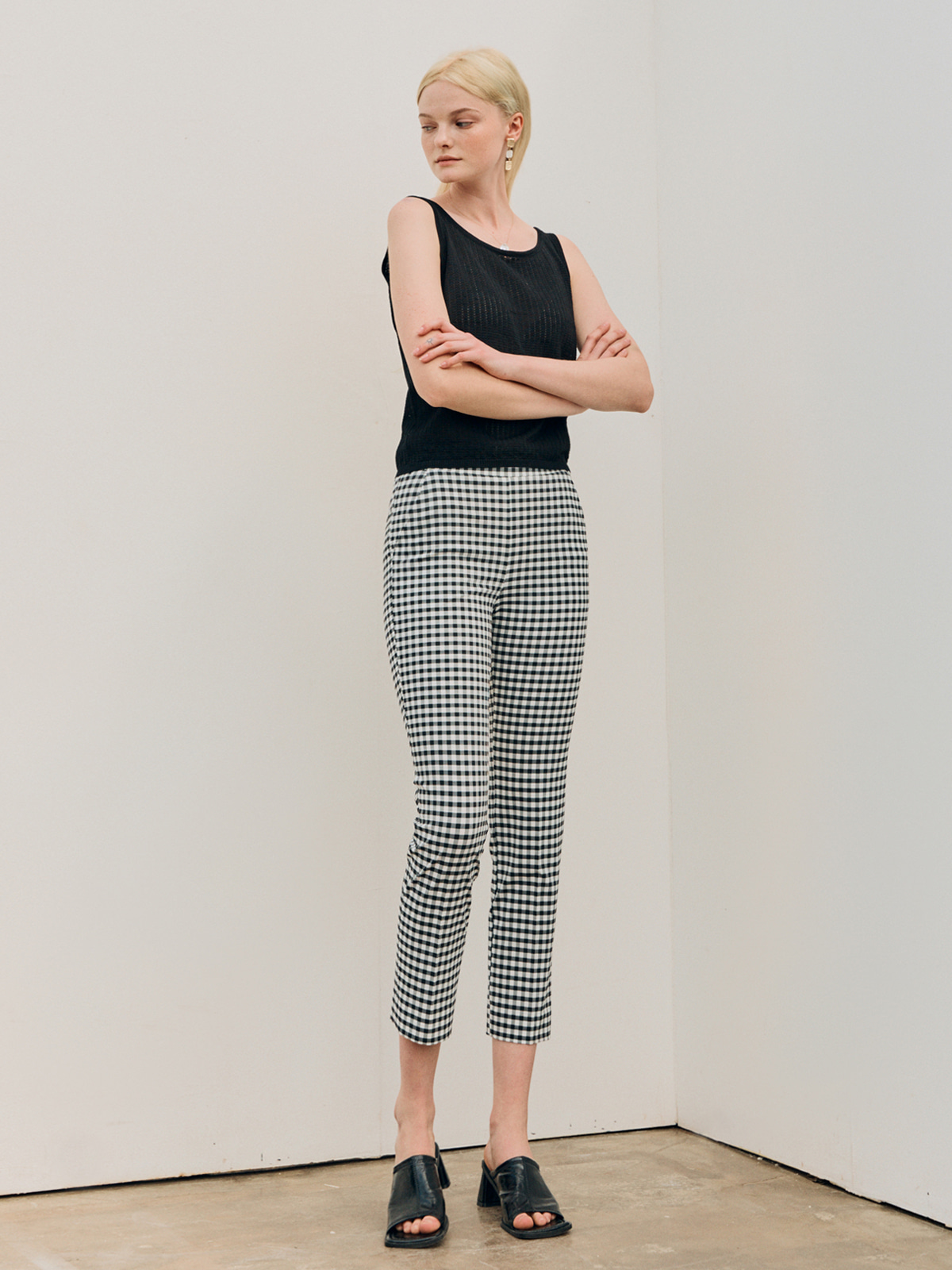 Alice Check Slim Pants