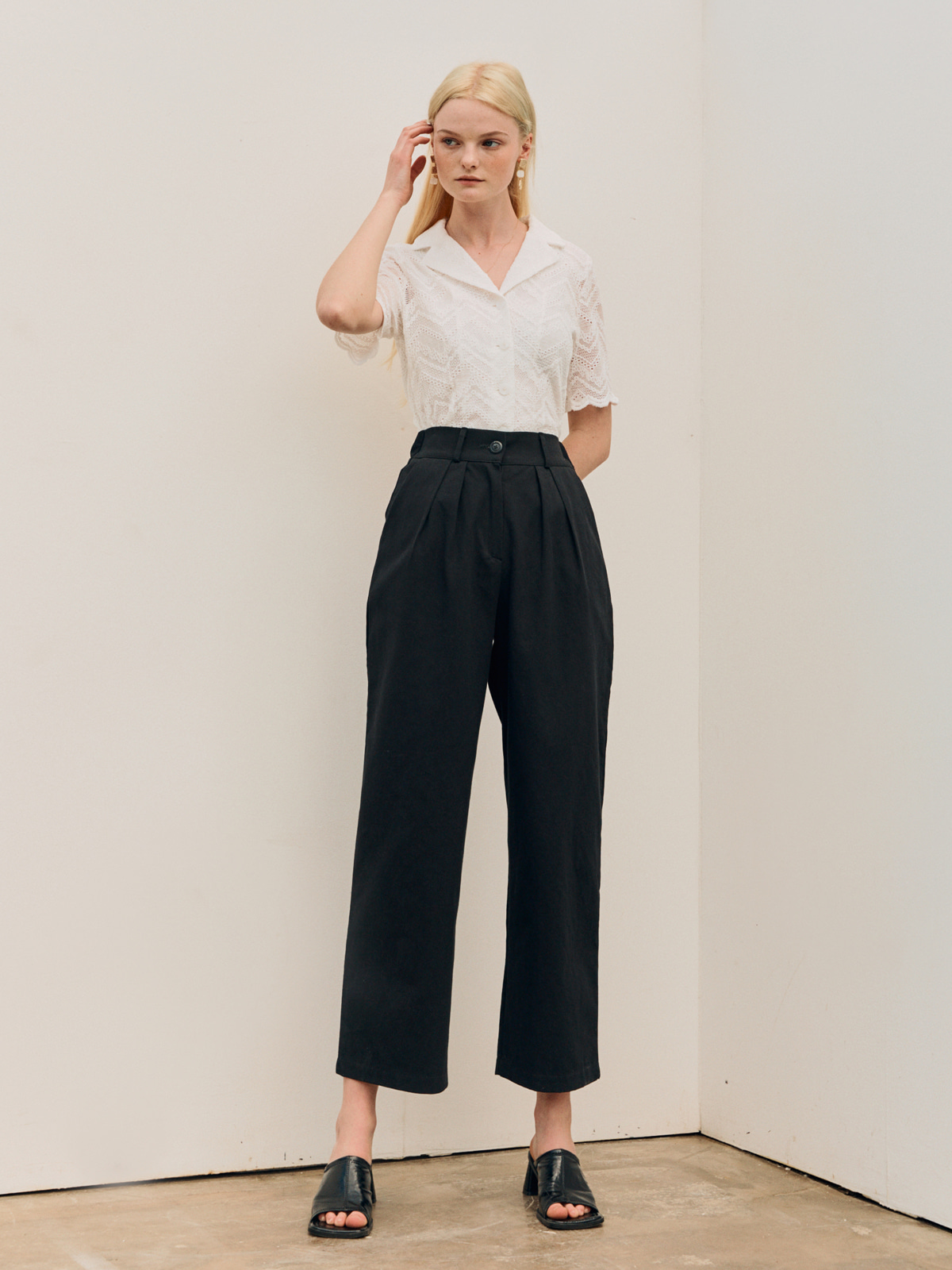 Nancy Pintuck  Long Pants_Black