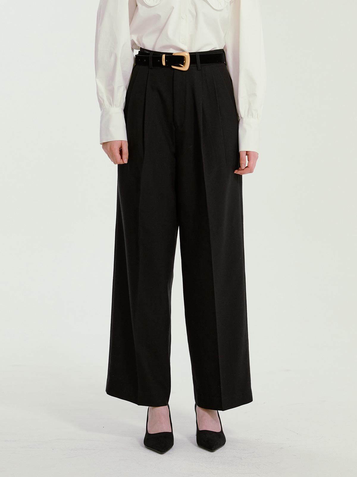 Gemma Pintuck Pants_Black