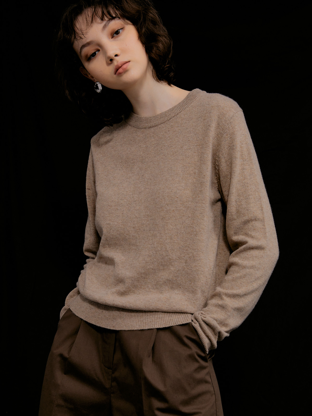Judith Cashmere Blended Knit_Bown