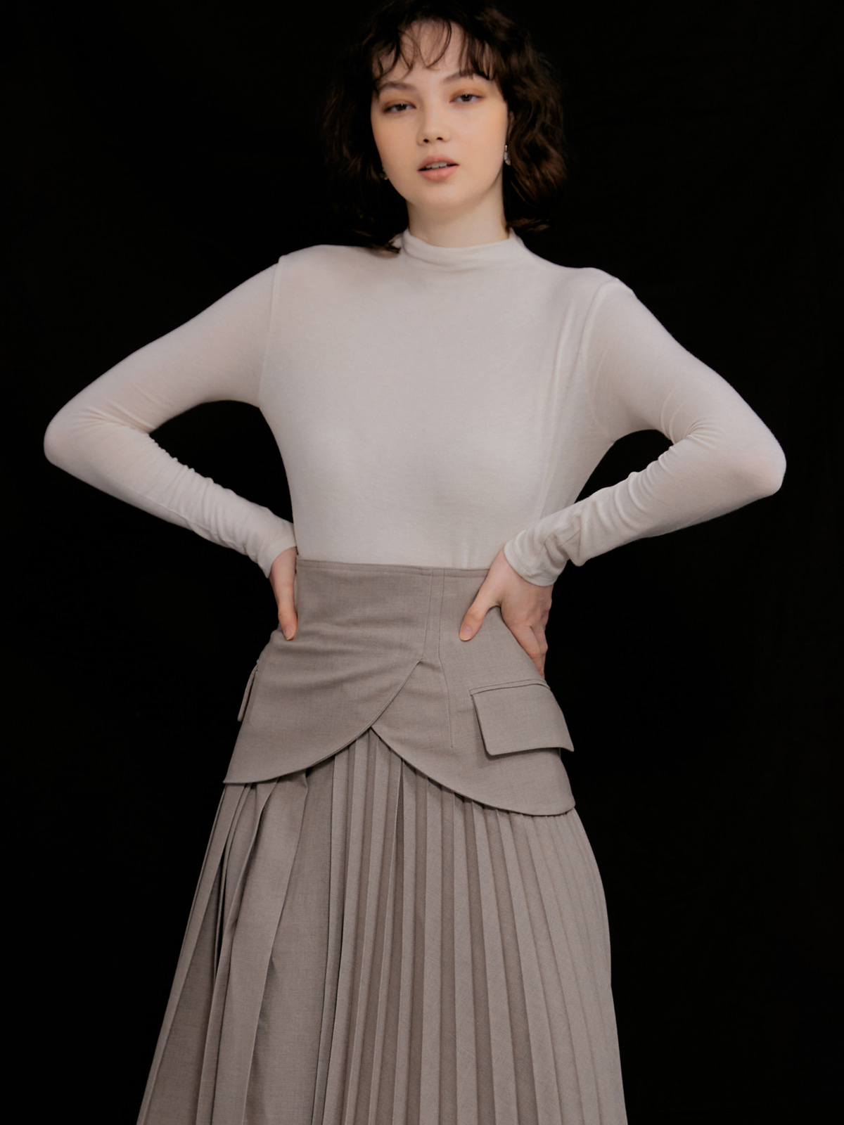 Jude Wool Half Turtleneck_Ivory