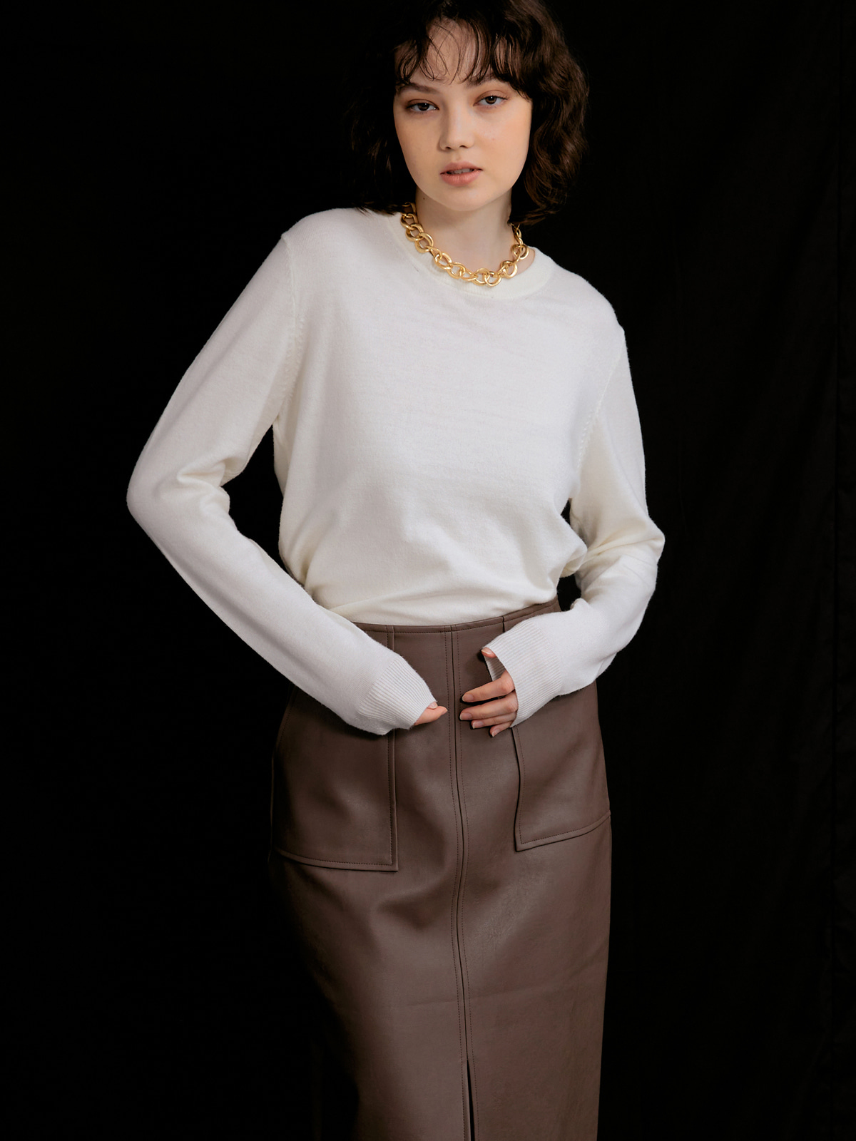 Judith Cashmere Blended Knit_Ivory