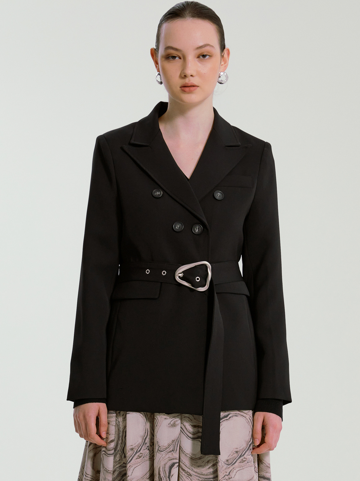 "[배우 ""황승언""착용]Caroline Belted Jacket_Black"