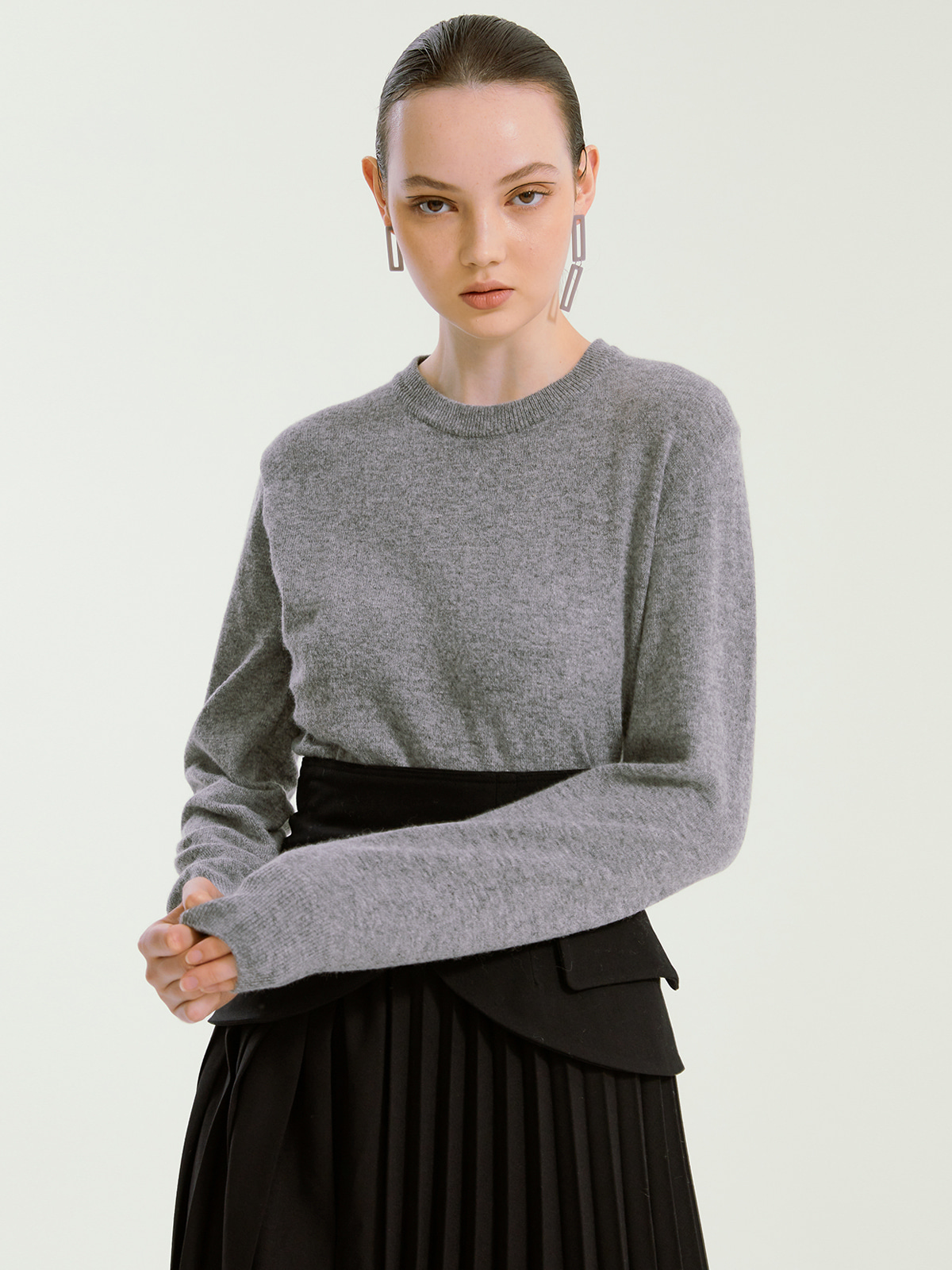 Judith Cashmere Blended Knit_Grey