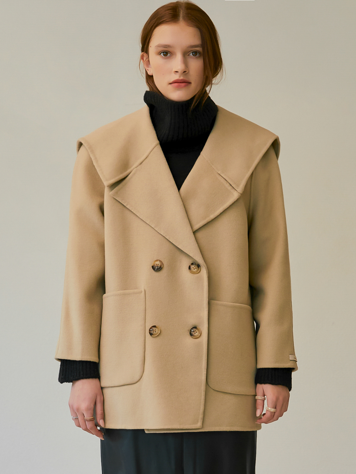 [윈터프리오더15%]Karen Sailor Half Coat_Beige