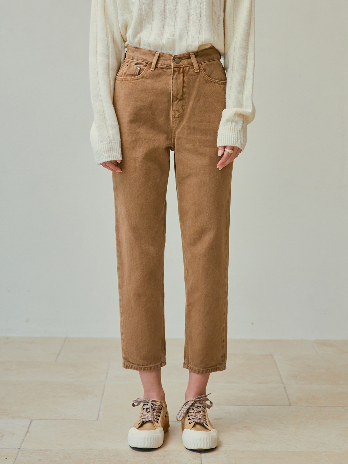 [윈터프리오더15%]Jessie Straight Denim Pants_Beige