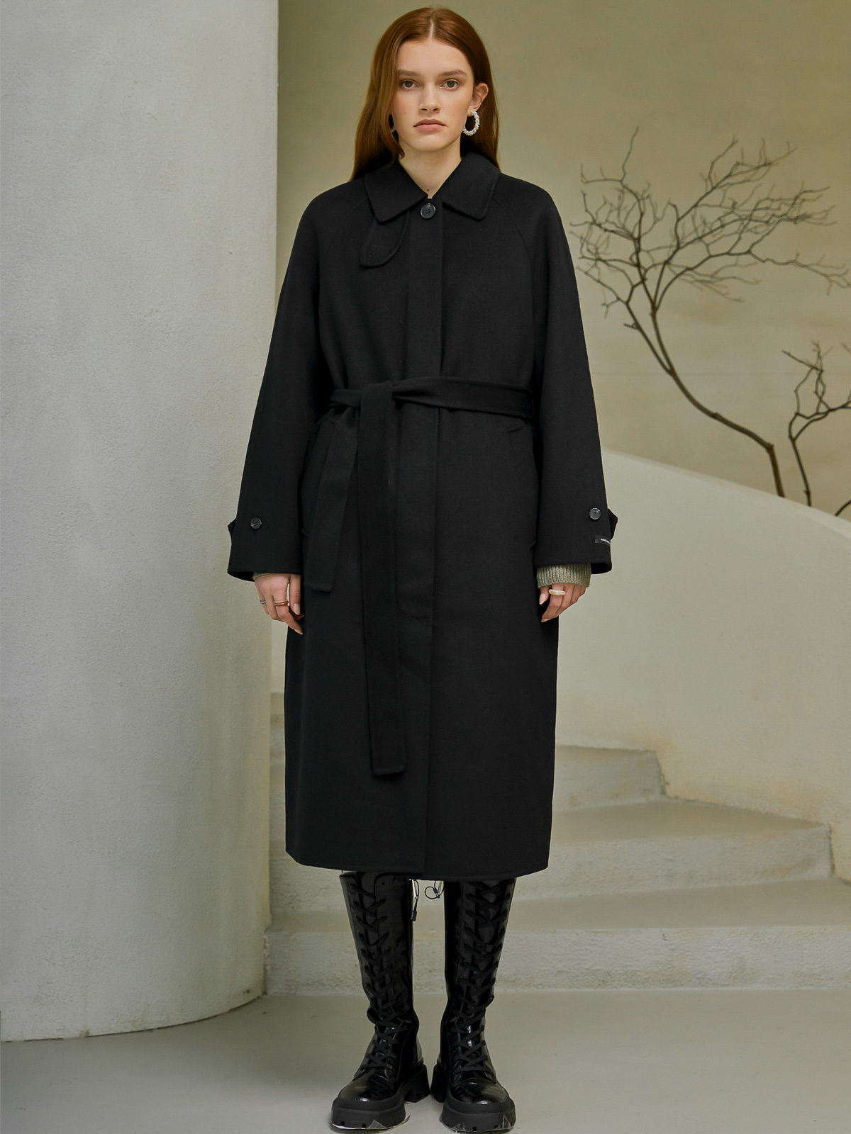 [윈터프리오더15%]Mikah Handmade Long Coat_Black