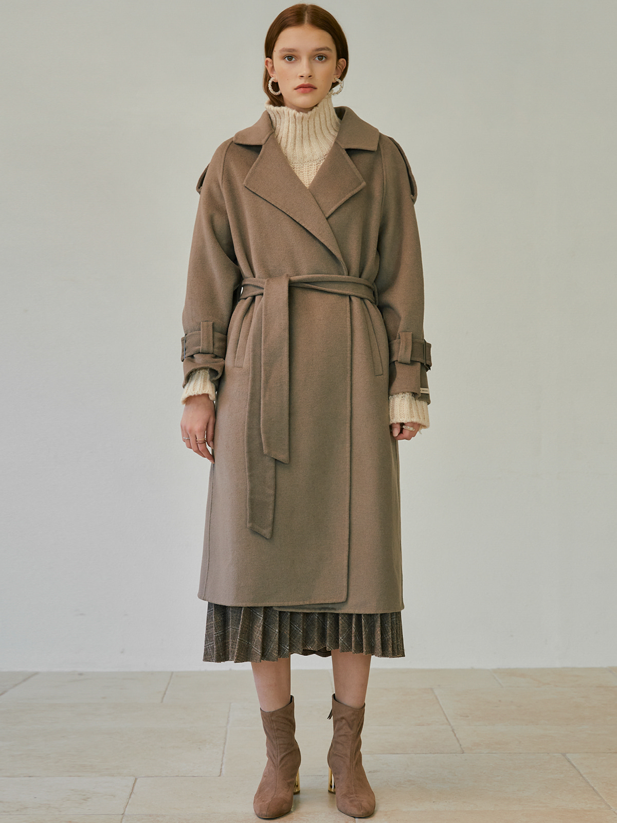 [윈터프리오더15%]Vanessa Belted Open Coat_Brown