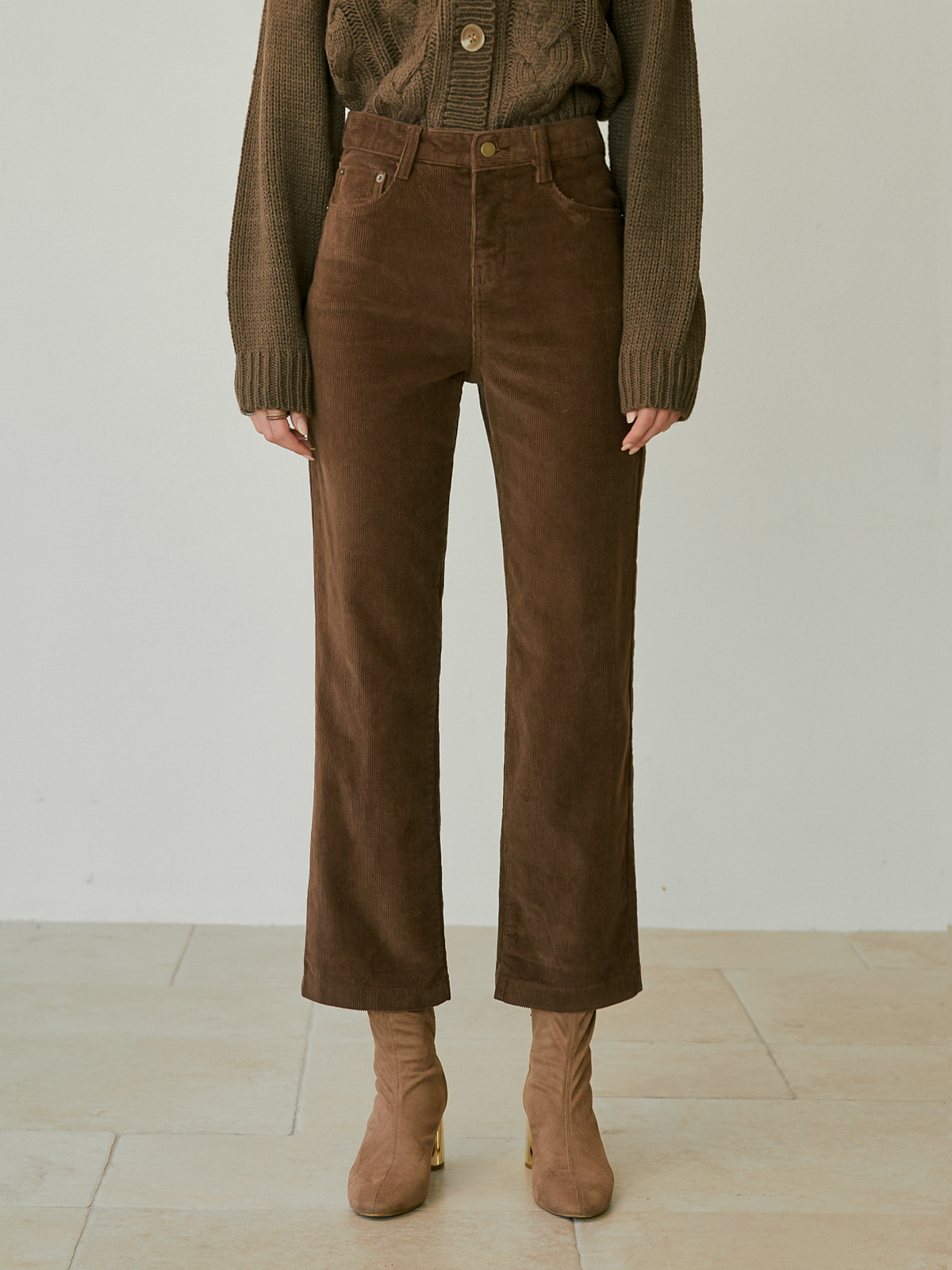 [윈터프리오더15%]Candace Corduroy Pants_Brown