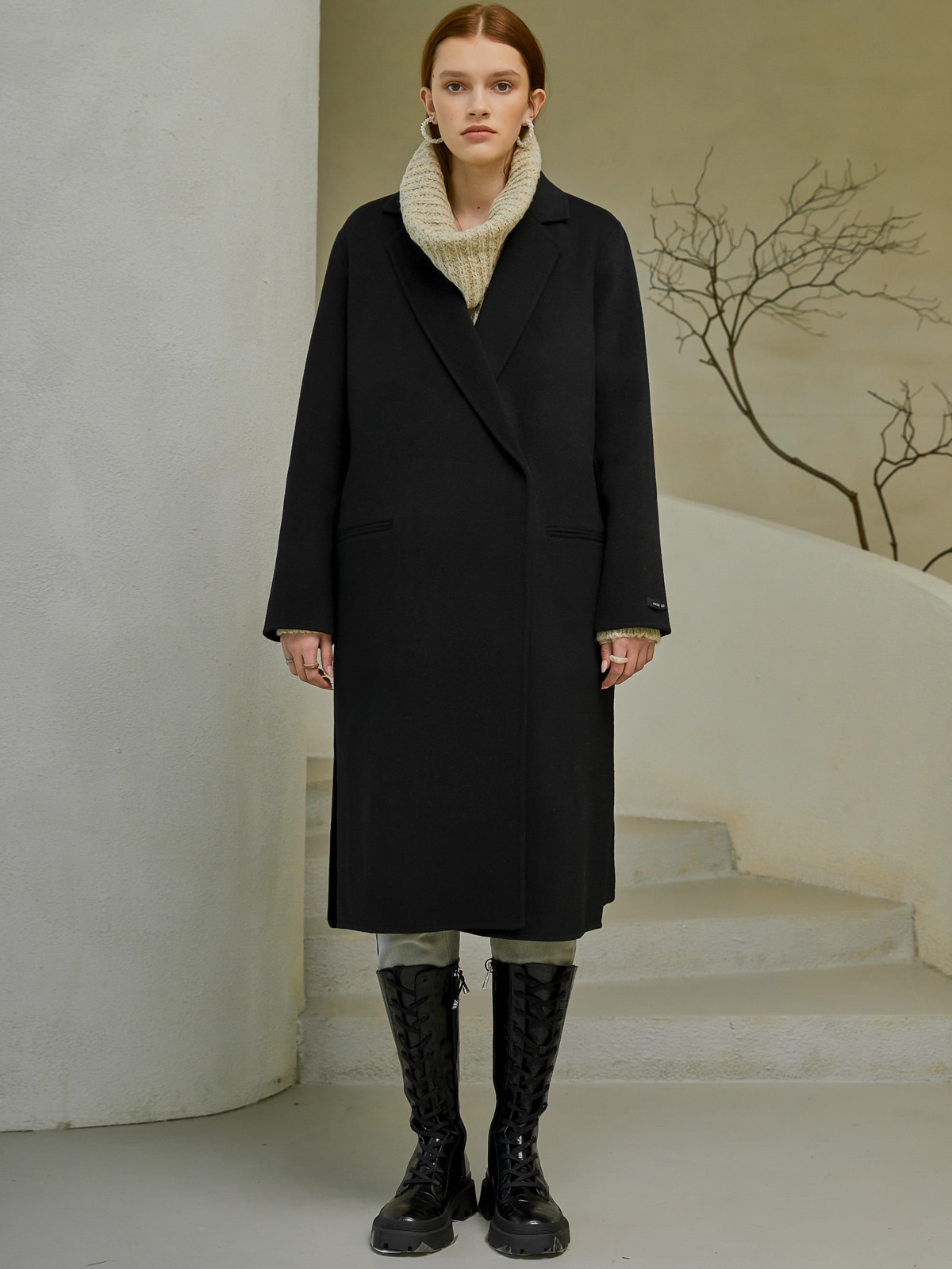 [윈터프리오더15%]Eden Handmade Wool Coat_Black