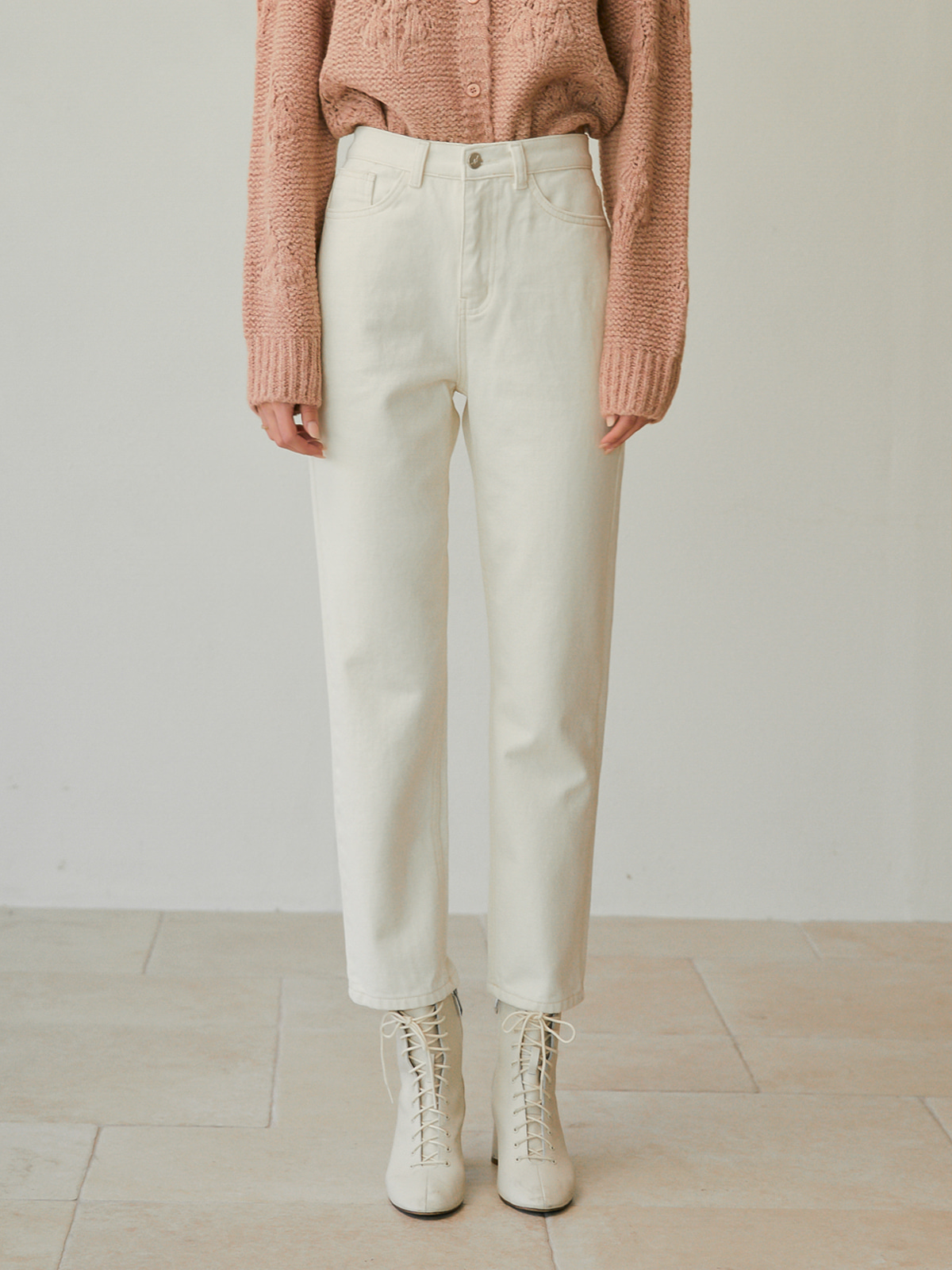 [윈터프리오더15%]Cathy Straight Cotton Pants_Ivory