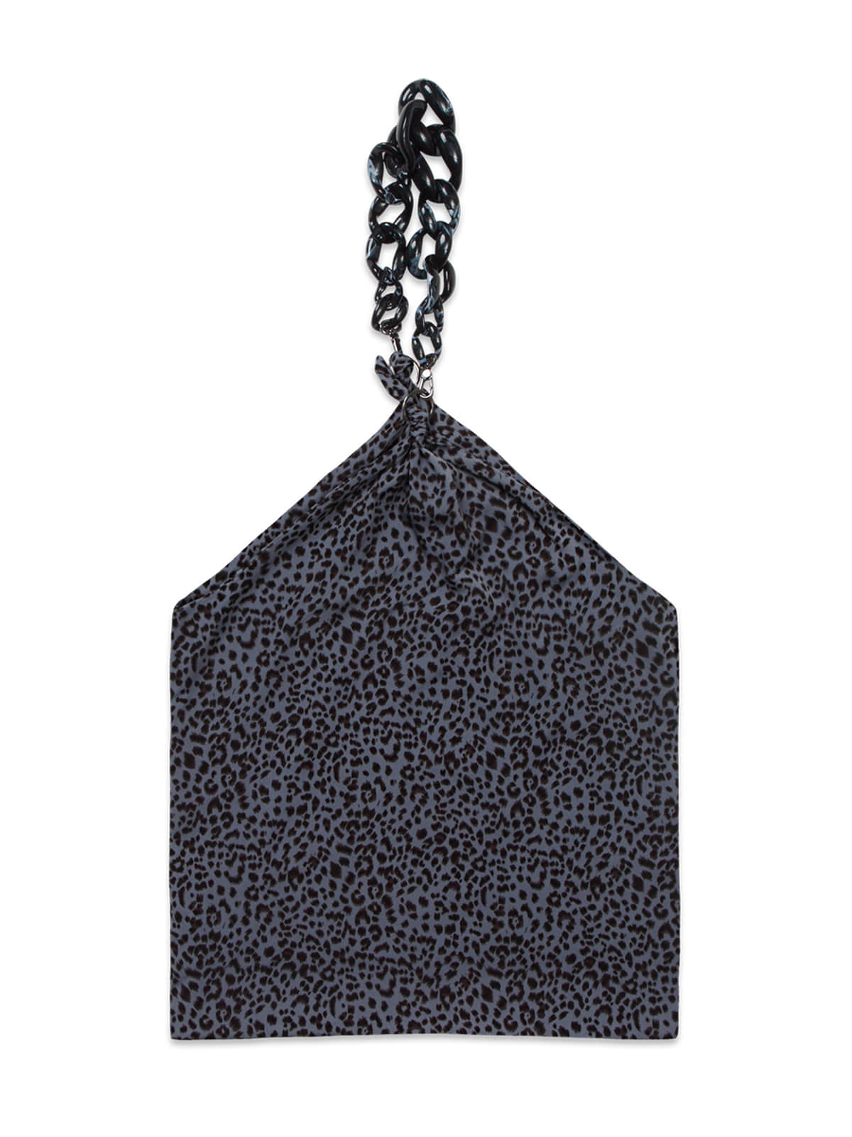 Leopard Chain Scarf Bag_Blue
