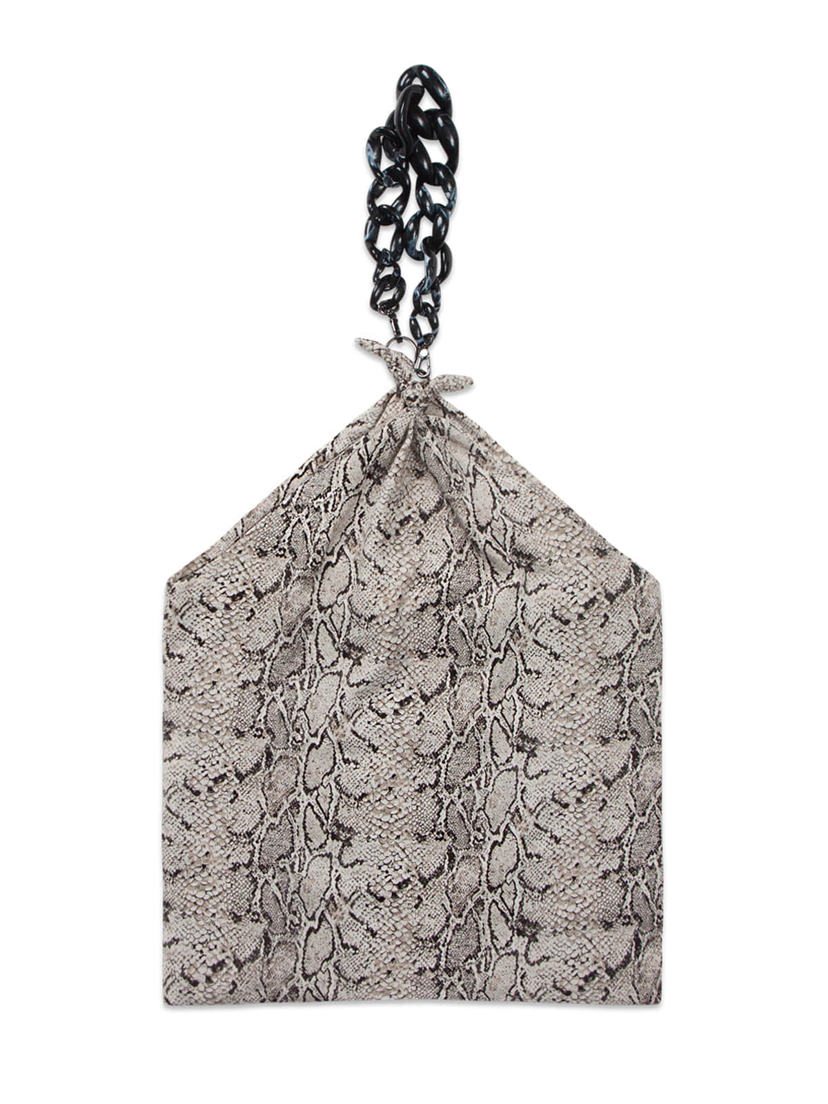 Python Chain Scarf Bag_Grey