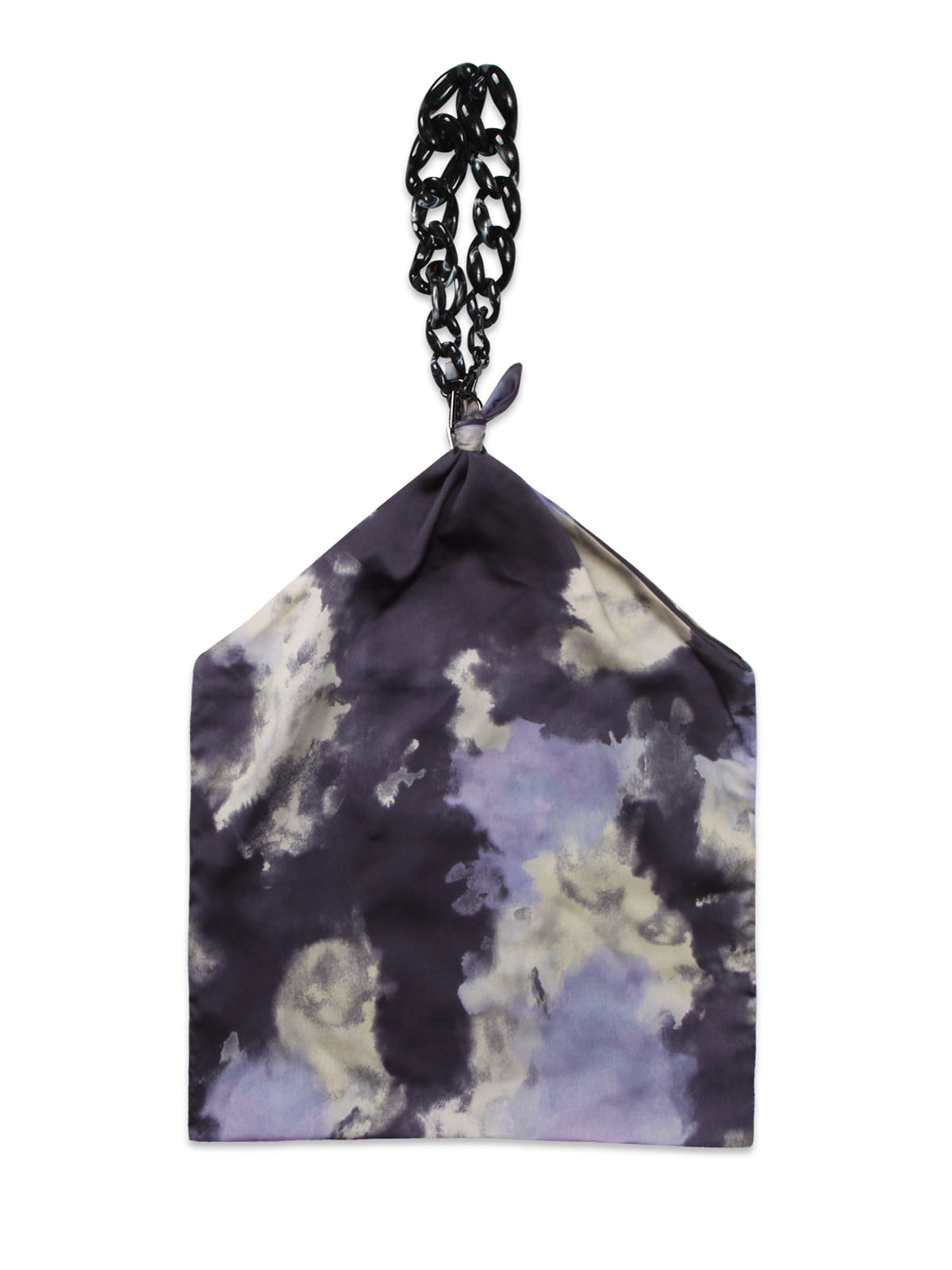 Futuristic Chain Scarf Bag_Purple