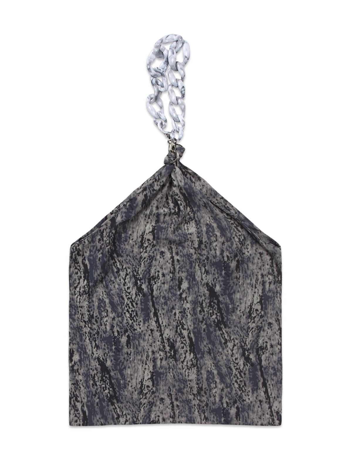 Painted Chain Scarf Bag_Grey