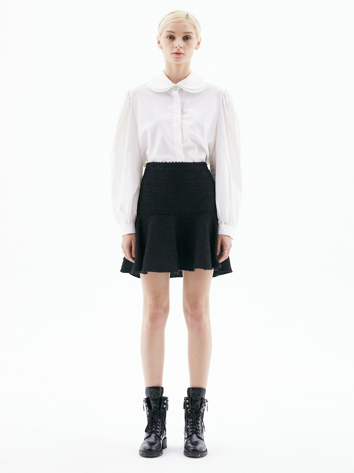 [3/15(월) 예약발송]Alice Tweed Mini Skirt_Black